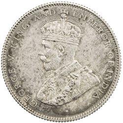CEYLON: George V, 1910-1936, AR 50 cents, 1926. PF