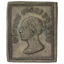 CEYLON: Pilo Fernando, rectangular 2 1/4 pence (4.11g). EF-AU