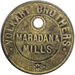 CEYLON: Volkart Brothers, Maradana Mills, AE token (15.05g). EF
