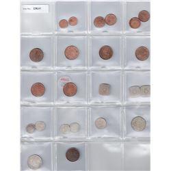 CEYLON:LOT of 7 silver, 13 copper & 3 copper-nickel coins