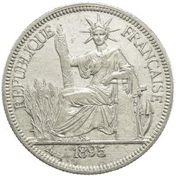 FRENCH INDOCHINA: AR piastre, 1895-A. EF