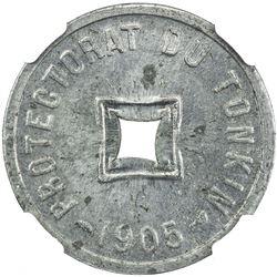 FRENCH INDOCHINA: TONKIN: 1/600 piastre, Paris, 1905. NGC MS64