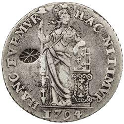 INDONESIA: SUMENEP: Sultan Paku Nata Ningra, 1811-1854, AR gulden. VF