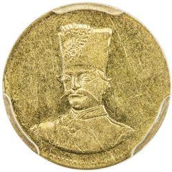 """IRAN: Nasir al-Din Shah, 1848-1896, AV 2000 dinars, [Tehran], AH""""12"""". PCGS AU"""