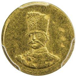 IRAN: Nasir al-Din Shah, 1848-1896, AV 2000 dinars, Tehran, AH1300. PCGS AU55