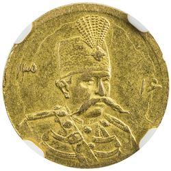 IRAN: Muzaffar al-Din Shah, 1896-1907, AV 5000 dinars, Tehran, AH1316. NGC AU58