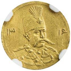 IRAN: Muzaffar al-Din Shah, 1896-1907, AV 5000 dinars, Tehran, AH1316. NGC UNC