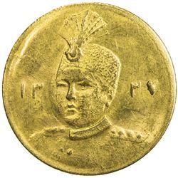 IRAN: Ahmad Shah, 1909-1925, AV 5000 dinars (1.44g), AH1337. AU