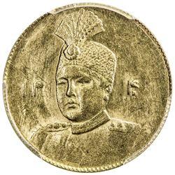 IRAN: Ahmad Shah, 1909-1925, AV toman, AH1340. PCGS MS62