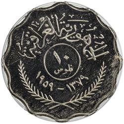 IRAQ: copper-nickel 10 fils, 1959/AH1379. PCGS PF66