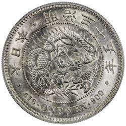 JAPAN: Meiji, 1867-1912, AR yen, year 35 (1902). PCGS MS62