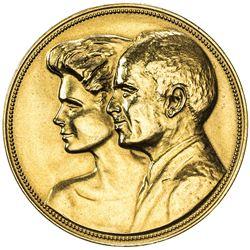 JORDAN: Hussain Ibn Talal, 1952-1999, AV medal (26.95g), 1988/AH1408