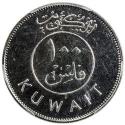 KUWAIT: Jaber al-Ahmad Al Sabah, 1977-2006, 100 fils, 1990/AH1410. PCGS SP66