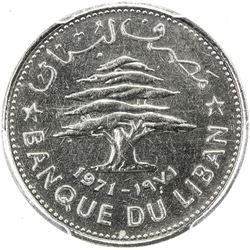 LEBANON: Republic, 50 piastres, 1971. PCGS SP