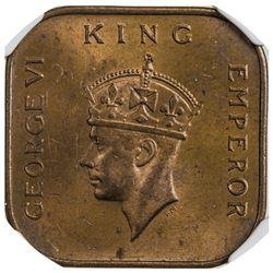 MALAYA: George VI, 1936-1946, AE cent, 1941-I