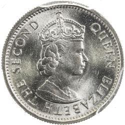 MALAYA & BRITISH BORNEO: Elizabeth II, 1952-1963, 5 cents, 1961-KN. PCGS SP
