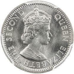 MALAYA & BRITISH BORNEO: Elizabeth II, 1952-1963, 10 cents, 1961-KN. PCGS SP