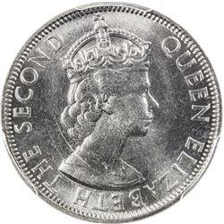 MALAYA & BRITISH BORNEO: Elizabeth II, 1952-1963, 50 cents, 1957-KN. PCGS SP
