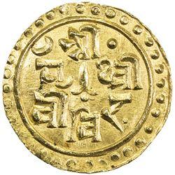 NEPAL: Prithvi Vira, 1881-1911, AV 1/8 mohar (0.71g), ND. UNC