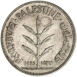 PALESTINE: AR 100 mils, 1933. EF