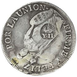 PHILIPPINES: Isabella II, 1833-1868, AR 8 reales, ND [1834-37]. F-VF