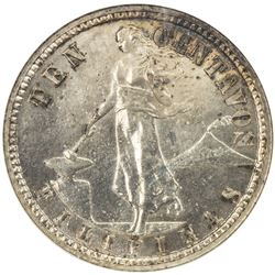 PHILIPPINES: U. S. Territory, AR 10 centavos, 1905. NGC PF65