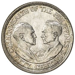PHILIPPINES: Commonwealth, AR 50 centavos, 1936-M. BU