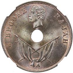 SARAWAK: Charles J. Brooke, 1868-1917, cent, 1892-H. NGC MS65
