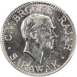 SARAWAK: Charles V. Brooke, 1917-1946, 10 cents, 1934-H