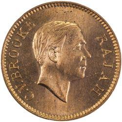 SARAWAK: Charles V. Brooke, 1917-1946, AE cent, 1937-H