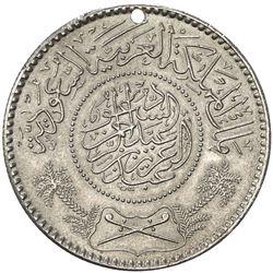 SAUDI ARABIA: 'Abd al-'Aziz b. Sa'ud, 1926-1953, AR riyal, [Makka al-Mukarraman]. AU