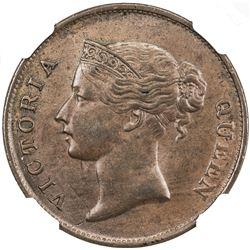 STRAITS SETTLEMENTS: Victoria, 1837-1901, cent, 1862. NGC MS63