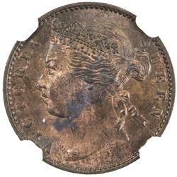 STRAITS SETTLEMENTS: Victoria, 1837-1901, 1/4 cent, 1872-H. NGC MS64