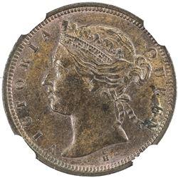 STRAITS SETTLEMENTS: Victoria, 1837-1901, 1/2 cent, 1872-H. NGC MS63