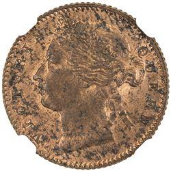 STRAITS SETTLEMENTS: Victoria, 1837-1901, 1/4 cent, 1899. NGC MS62