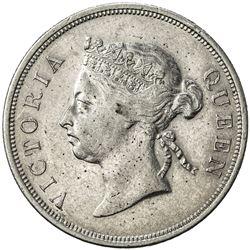 STRAITS SETTLEMENTS: Victoria, 1837-1901, AR 50 cents, 1899. EF
