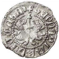 ARMENIA: Levon I, 1198-1219, AR 1/2 tram (1.49g). EF