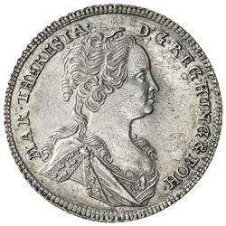 AUSTRIA: Maria Theresa, 1740-1780, AR 6 kreuzer, 1743. AU