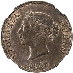 CYPRUS: Victoria, 1878-1901, AE 1/2 piastre, 1886. NGC MS63