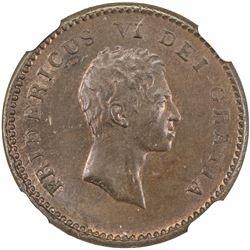 DENMARK: Frederik VI, 1808-1839, AE 2 skilling, 1810. NGC MS64