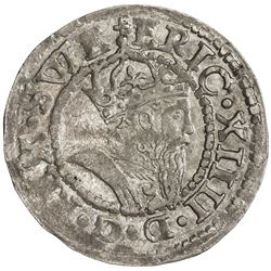ESTONIA: Eric XIV, of Sweden, 1560-1568, AR 1/4 mark, Reval (Tallinn), [15]62. AU