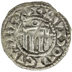 FRANCE: Louis VII, 1137-1180, AR denier (1.05g), Orleans. VF