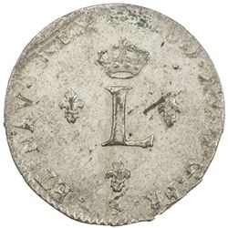 FRANCE: Louis XV, 1715-1774, BI 2 sols (2.16g), Paris, 1761-A. AU