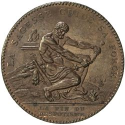 FRANCE: AE 2 sols (17.04g), 1792. UNC