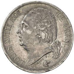 FRANCE: Louis XVIII, 1814-1824, AR 2 francs, Bordeaux, 1817-K. VF-EF