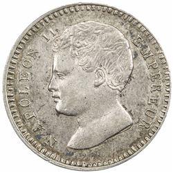 FRANCE: Napoleon II, pretender, 1815-1816, essai AR 1/2 franc (2.29g), 1816, UNC