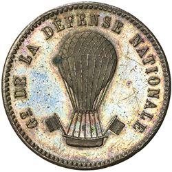 FRANCE: Gouvernement de Defense Nationale, 1870-1871, AE 10 centimes (10.6g), 1870-A. AU