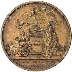 FRANCE: AE medal (32.03g), 1790. AU