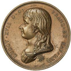 FRANCE: AE medal (35.62g), 1795. UNC