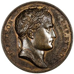 FRANCE: Napoleon I, Emperor, 1804-1814 & 1815, AE medal, 1807. EF